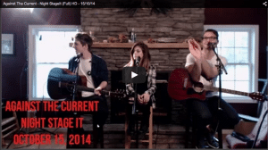 Against The Current StageIt