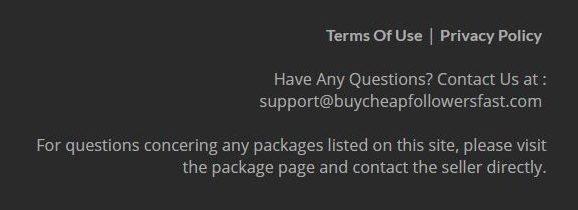 Buycheapfollowersfast contact details